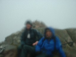 Summit of Cairn Bannoch.  Poor picture - guess it says something about the day!